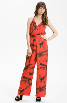 Vince Camuto 'Paper Abstract' Racerback Jumpsuit available at Nordstrom