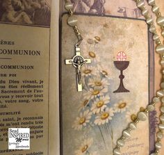 Mexican Opal First Holy Communion Rosary