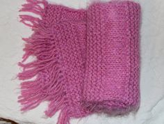 Angel Hair Hot Pink Scarf by StitchinGalTX on Etsy