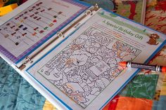 Dry erase quiet book
