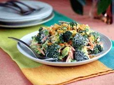 Day 12 Lunch - Creamy Broccoli Salad With Garlic Crunch Topping