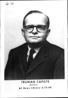 1968 Truman Capote Author of in Cold Blood Press Photo