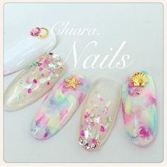 Summer. nail♡ Instagram → yochan4.nail #YokoShikata♡キアラ #ネイルブック