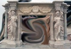 Oversized Large Marble Fireplace Greco Roman http://artisankraftfireplaces.com/marble-fireplaces/oversized-large-marblefireplace-greco-roman.html
