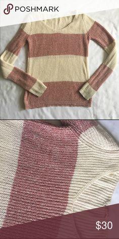 Pink rose knit oversized sweater Like new oversized Pink Rose Sweaters