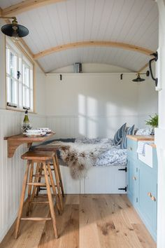 Gallery — Shepherds Huts For Sale Cornwall - Pumphrey & Weston house conversion house ideas house interior house interior floor plans house interior small house plans Playhouse Interior, Shed Interior, Interior Design, Summer House Interiors, Cabin Interiors, Shed Bedroom Ideas, Beach Hut Interior, Beach Hut Decor, Shepherds Hut For Sale