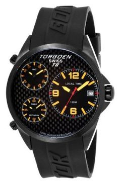 Torgoen Swiss Men's T08303 T8 3 Time Zone Aviation Watch: Watches: Amazon.com
