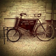 Carley's Yard bicycle. Old delivery bicycle now ours to keep & ride around #framlingham on.