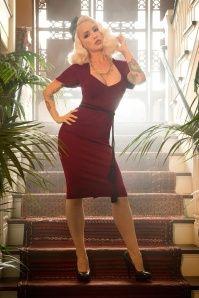 Pinup Couture Venus 50s Dress Burgundy  100 20 17835 2