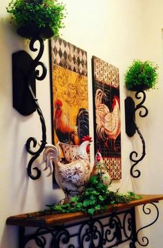 Decorating Your Kitchen with Country Rooster Kitchen Decor. Creative Decorating Your Kitchen with Country Rooster Kitchen Decor. Cabinet Decor Greenery Wrought Iron Scroll the Rooster Kitchen Decor, Rooster Decor, Red Rooster, Tuscan Decorating, French Country Decorating, Decorating Kitchen, Country French, Decorating Ideas, Style Toscan