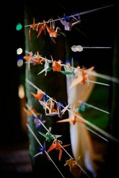 cranes for wedding, cocori pentru nunta Origami Wedding, Incense, Wedding Designs