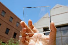 'Researchers have developed a new type of solar concentrator that when placed over a window creates solar energy while allowing people to actually see through the window. It is called a transparent luminescent solar concentrator and can be used on buildings, cell phones and any other device that has a flat, clear surface - please click to read more...x