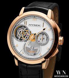 HYSEK - IO_45mm Chronograph Tourbillon www.watches-news.com  #Watch