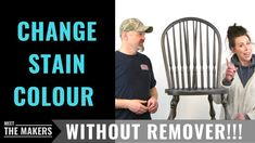 In today's video we take a set of 6 dining chairs and update the stain colour without using toxic chemicals aka Removers and Chemical Strippers! Water Based Stain, Stain Colors, Wood Furniture, How To Remove, Chairs, Meet, Interiors, Youtube, Diy