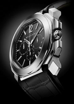 """Bulgari Introduces An Octo Chronograph Watch - by Patrick Kansa - On aBlogtoWatch.com """"In the run-up to BaselWorld, Bulgari has released some information on their newest watch, the Octo Chrono... an octagon, a representative combination of a square and circle  (and, if you follow their hyperbolic press release, it symbolizes the combination of Italian design and Swiss precision). While the design is sure to garner attention, that's not the main thing that makes this watch interesting to…"""