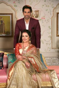 Image may contain: 2 people, people sitting and indoor Shrenu Parikh, People Sitting, Traditional Looks, Beautiful Actresses, Sari, Indian, Actors, People People, Image