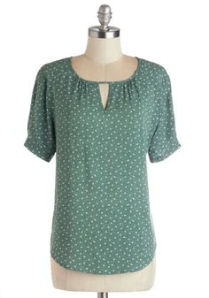 As you look out on the rolling slopes and picturesque vegetation of your extensive yard, you feel a warmth thats perfectly captured in this soft-green blouse. Casual Tops For Women, Blouses For Women, Pretty Outfits, Cute Outfits, Lace Bralette Top, Black Sequin Top, Stitch Fix Outfits, Stitch Fix Stylist, Modcloth