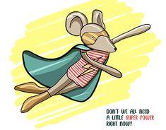 Super Mouse, Mouse Illustration, Net, Super Powers, Mousse, Pikachu, Behance, Photoshop, Illustrations