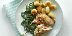 Boodschappen - Gevulde varkensfilet met spinazie en rozemarijnkrieltjes