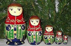 Vtg-5-pcs-Rare-Turkish-Maiden-Nesting-Dolls-Made-in-Turkey-Christmas-Gift-Gold 29.99$