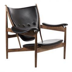 Chieftain Chair - Black Leather Walnut Stained Ash | Memoky.com - Scandinavian Furniture
