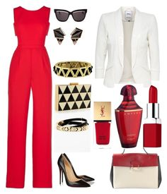 """Look 3"" by gnalibaeva on Polyvore featuring мода, BCBGMAXAZRIA, House of Harlow 1960, Christian Dior, Nak Armstrong, Valentino, Christian Louboutin, Clinique, Guerlain и Yves Saint Laurent"