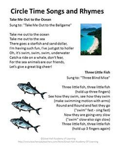 Under The Sea on Preschool Graduation Letter To Children