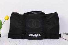 637db0eafca812 Chanel Black CC Logo Travel Gym Duffle Weekend Bag Large Vip Gift
