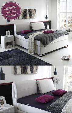 erstklassiges Boxspringbett Step 5 | zauber in dein Schlafzimmer einen wahren Eyecatcher in edlem Weiß  #MoebelLETZ