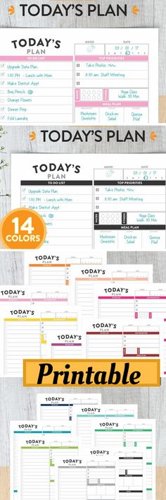 "Printable Daily Planner Insert - US Letter Size - Big HP Today's PlanDaily Planner, Daily Planner Insert, Printable Planner, Planner, Today's Plan, Day Planner, Planner Pages, Daily Organizer, Daily Agenda.Pdf File Letter Size - 8.5"" X 11"" with 14 pages.. #planners #ad #layout #printable #plannerinserts #bulletjournals #happyplanner  #etsy"
