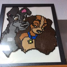 Lady and the Tramp hama beads by Andrea Cots