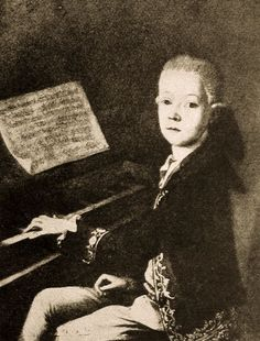 Wolfgang Amadeus Mozart as a child.
