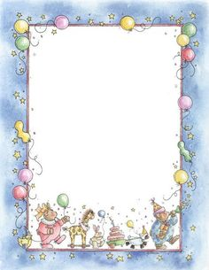 Hush Little Baby - carmen freer - Picasa Web Albums Clipart Baby, Frame Clipart, Borders For Paper, Borders And Frames, Decoupage, Printable Border, Baby Shower Labels, Free Printable Stationery, Page Borders Design