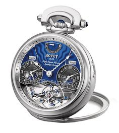 Lovely Bovet white gold mens watch.