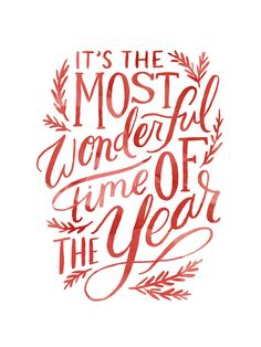 The Most Wonderful Time Painted by Alethea and Ruth for Minted