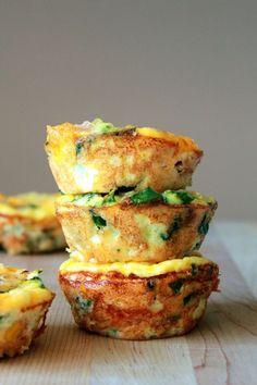 Mini Frittata Muffins:13 Make-Ahead Breakfast Recipes to Make Right Now (+ Eat All Week) via Brit + Co