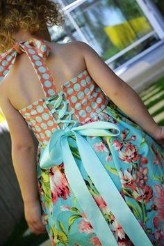 Bubble Dress sewing tutorial PDF pattern corset dress for