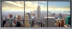 Penthouse Window View -             Fototapeten & Tapeten -           Photowall