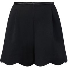 Black Scallop Hem Suit Shorts and other apparel, accessories and trends. Browse and shop 8 related looks.