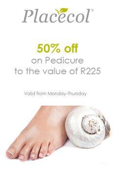 50% discount on Pedicure Monday Thursday, Pedicure, Health, Pedicures, Health Care, Salud, Toe Nail Art