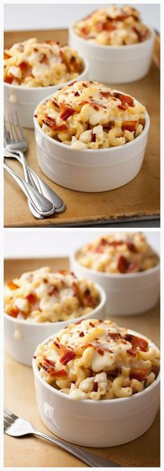 Bacon Feta Macaroni and Cheese ~ Don't Eat Them All