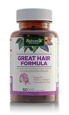 Product review for Hi-Potency Hair Growth Formula w/ Biotin by Nature's Wellness | Maximum Strength DHT Blocker Formula w/ Biotin, Folic Acid, Saw Palmetto, Inositol, PABA, 20+ Ingredients Support Natural Hair Growth  - Compare Hi-Potency Hair Growth Support w/ Biotin by Nature's Wellness to similar products and find out why ours is the best hair supplement to promote hair re-growth and follicle health: 24 max potency ingredients support natural hair growth Targets hai