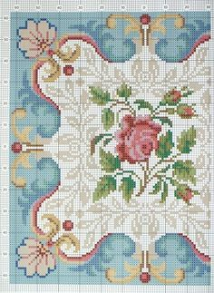 Mosaic patterns  miniature needlework chart (left side).....beautiful inspiration