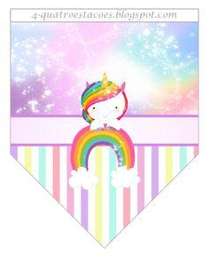 bandera. Unicornio.