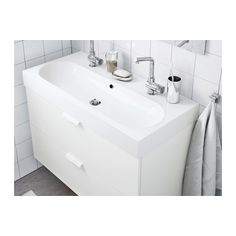 BRÅVIKEN Sink, 1 bowl, white white 39 3/8x19 1/4x3 7/8 would give 12 inches on each side for counter space