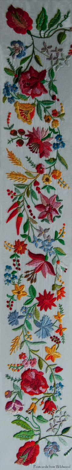 Hungarian Kalocsai embroidery.