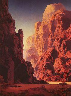 "Dramatic Mountains: Maxwell Parrish, ""Arizona"" (First Version), 1930."