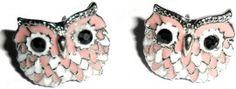Oorbellen Owl pink