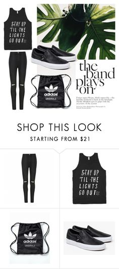 """""""stay up the lights go out"""" by yuliyusanti on Polyvore featuring Ally Fashion, adidas Originals and Vans"""