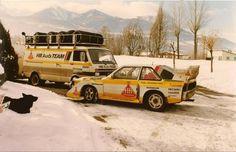 Audi Quattro rally team.